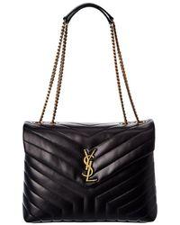 Gucci Saint Laurent Medium Loulou Matelasse Y Leather Chain Satchel - Black