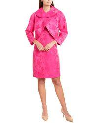 Tahari 2pc Wrap Jacket & Sheath Dress Set - Pink