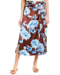 C/meo Collective Collective In Bloom Midi Skirt - Brown