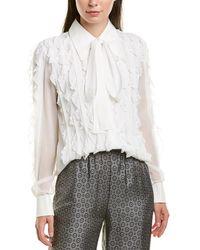 Michael Kors Silk Top - White