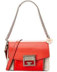Givenchy - Mini Gv3 Leather & Suede Shoulder Bag - Lyst