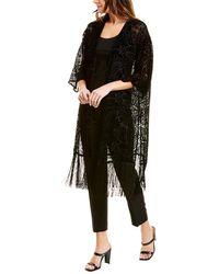 Anne Klein Silk-blend Cardigan - Black