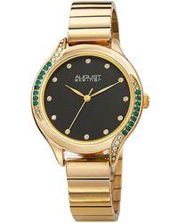 August Steiner Quartz Green Dial Ladies Watch - Metallic