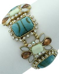 Sparkling Sage - Plated Resin Stretch Bracelet - Lyst