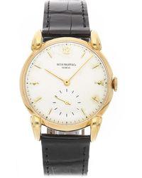 Patek Philippe Patek Philippe Men's Leather Watch - Metallic