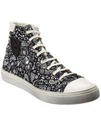 Saint Laurent Bedford Canvas High-top Sneaker - Black