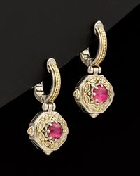 Konstantino Hermione 18k & Silver 2.60 Ct. Tw. Diamond & Tourmaline Earrings - Metallic
