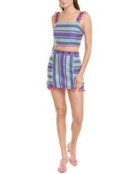 Saylor Claire 2pc Top & Skirt Set - Blue