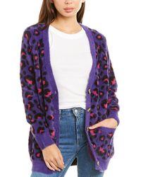 For Love & Lemons For Love & Lemons Marielle Leopard Cardigan - Purple