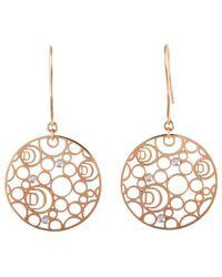 Damiani - 18k Rose Gold Diamond Drop Earrings - Lyst