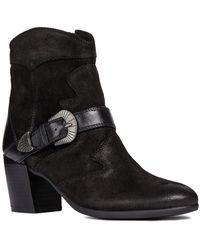 Geox D New Lucinda C Cowboy Boots - Black