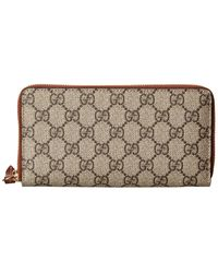 Gucci GG Supreme Canvas & Leather Zip Around Wallet - Multicolour