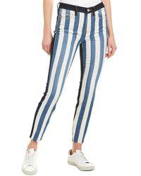 Current/Elliott The High Waist Stiletto Crop Pant - Blue