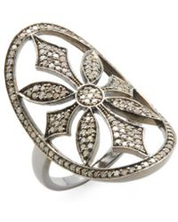 Adornia - Fine Jewellery Renata Silver & 1.30 Ct. Tw. Diamond Ring - Lyst