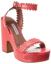 Tabitha Simmons Harlow Perforated Leather Sandal - Pink