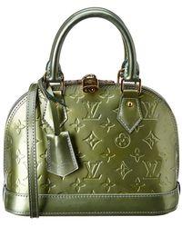 Louis Vuitton - Green Monogram Vernis Leather Alma Bb - Lyst