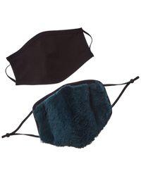 Adrienne Landau 2pc Face Warmer & Cloth Face Mask Set - Green