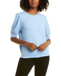 Nanette Lepore Short Sleeve Pullover - Blue