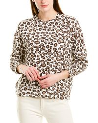 Monrow Leopard Seamed Sweatshirt - Brown
