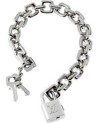 Louis Vuitton Louis Vuitton 18k Padlock Charm Bracelet - Metallic