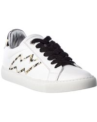 Zadig & Voltaire Leather Trainer - White