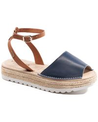 VISCATA Ciutadella Leather Sandal - Blue