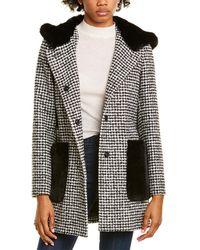 Cinzia Rocca Wool-blend Coat - Black