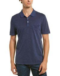 Robert Barakett Little Bay Pique Polo Shirt - Blue