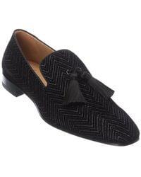 Christian Louboutin Officialito Velvet Loafer - Black