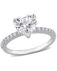 Rina Limor 10k 2.58 Ct. Tw. White Sapphire Engagement Ring