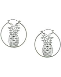 Sparkling Sage - Plated Hoops - Lyst