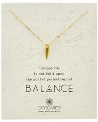 Dogeared - Balance 14k Over Silver Spike Necklace - Lyst