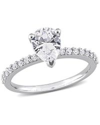Rina Limor 10k 2.12 Ct. Tw. White Sapphire Engagement Ring