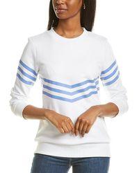 Sail To Sable Inverted Stripe Sweatshirt - White