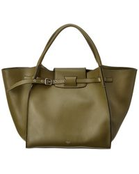 Céline Medium Big Bag Leather Tote - Green