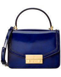 Tory Burch Juliette Mini Leather Top Handle Satchel - Blue