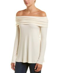 Three Dots Off-the-shoulder Top - White