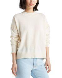 Club Monaco Ottoman Cashmere Sweater - White