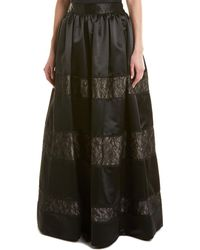Alice + Olivia Prima Silk-trim Ball Gown Skirt - Black