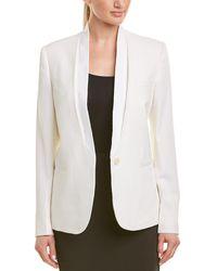 Stella McCartney Single-button Silk-lined Wool Blazer - White