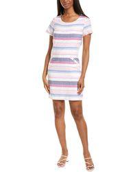 Joules Henrietta Linen-blend Shift Dress - Blue
