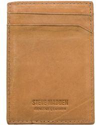 Steve Madden - Antique Genuine Leather Money Clip - Lyst