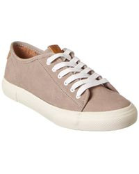 Frye Gia Leather Trainer - Grey