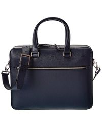 Ferragamo Revival Leather Briefcase - Blue