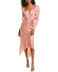 Ronny Kobo Astrid Silk-blend Dress - Pink