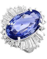 Heritage Platinum 12.55 Ct. Tw. Diamond & Sapphire Ring - Multicolour