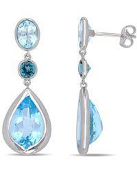 Rina Limor Silver 15.50 Ct. Tw. Topaz Earrings - Blue