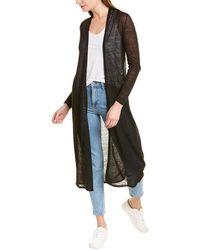 Eileen Fisher Petite Fine Linen-blend Cardigan - Black