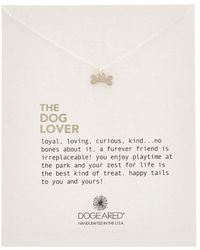 Dogeared - Silver Dog Bone Charm Necklace - Lyst