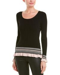MILLY - Striped Sweater - Lyst